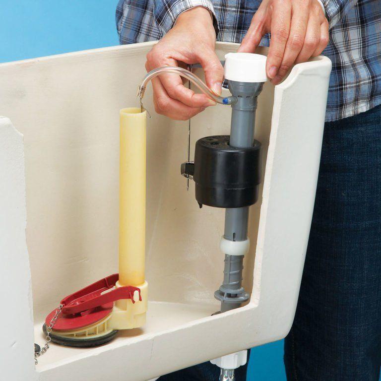 How to Stop a Running Toilet Toilet repair, Toilet tank