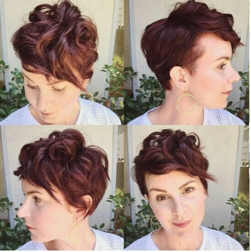 Pixie curly  short