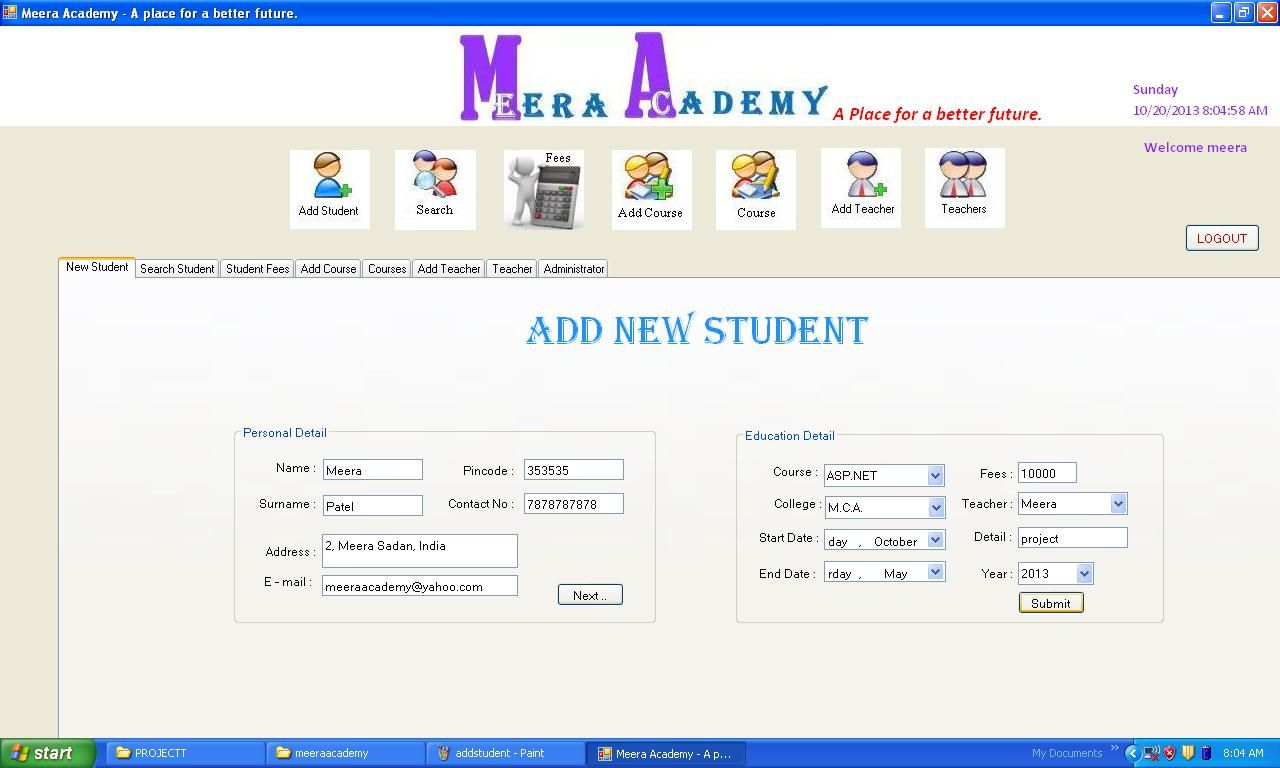 Student Management System Project In C# Windows Application