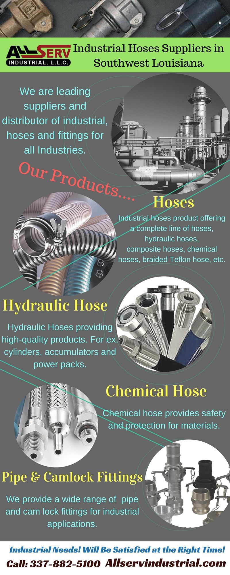 Industrial Hoses Suppliers in Southwest Louisiana We
