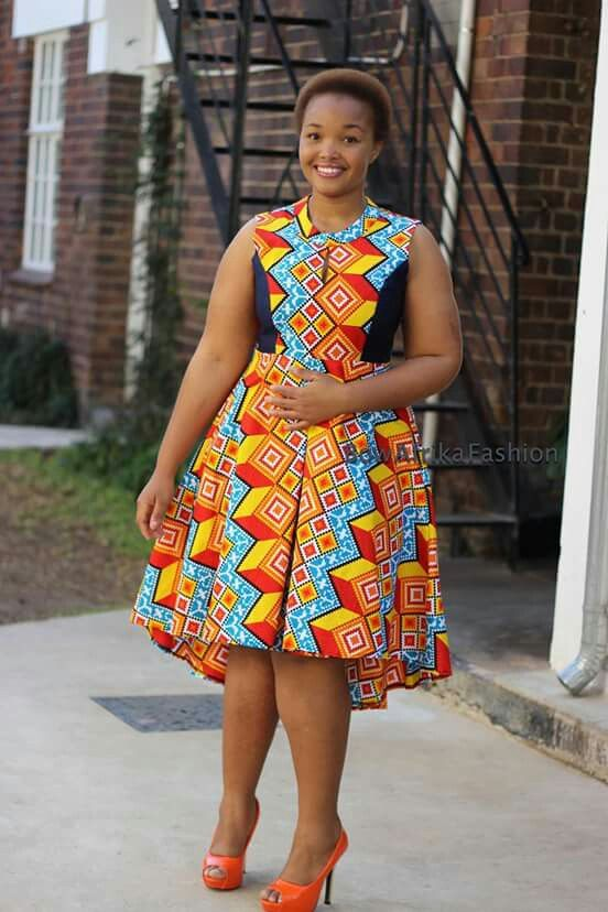 Bow Africa African Clothing African Print Dresses
