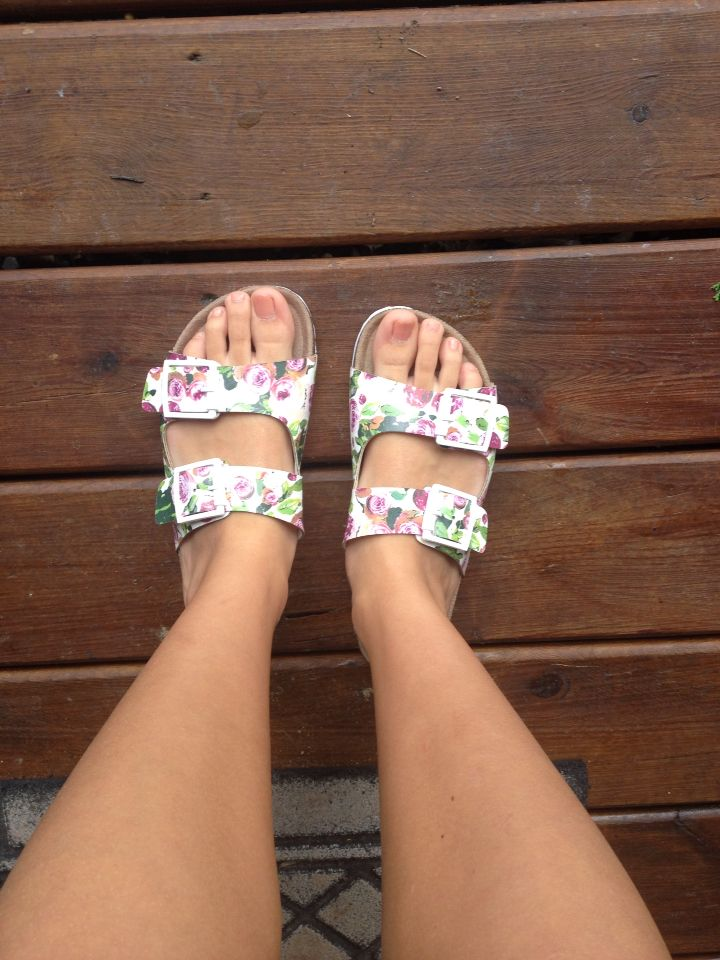 ee62ab74a847 Love my floral Birkenstocks from TJ Maxx   Shoes   Floral ...