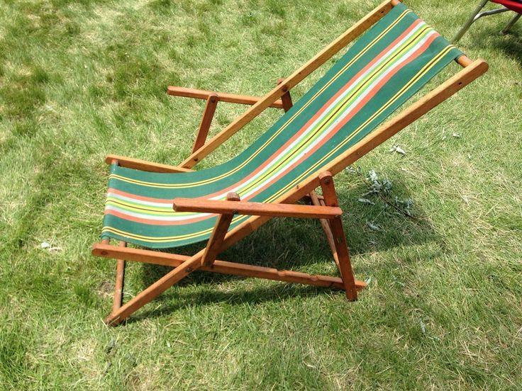 Canvas Beach Chairs Antique Frostbrand Vintage Deck Beach Canvas Folding Chair Ebay Chaise Longue Chaise Toile