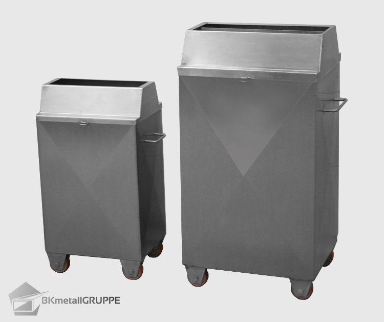 B\K Metall Gruppe Edelstahl Mülleimer Produkte für Großküchen - mülleimer für küchenschrank