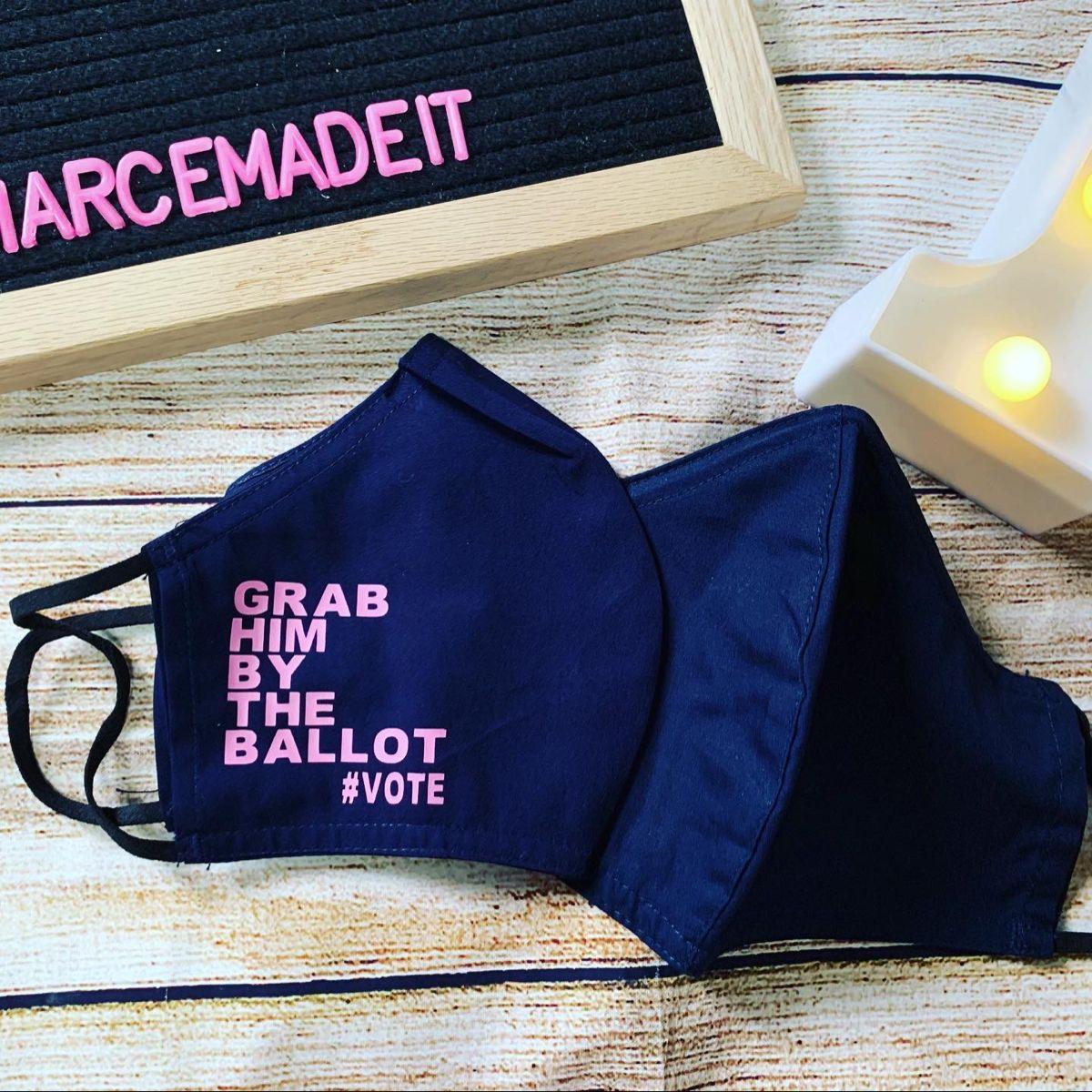 Grab Him By The Ballot Vote Biden Harris 2020 Face Mask In 2020 Etsy Shop Black Lives Matter Etsy Help