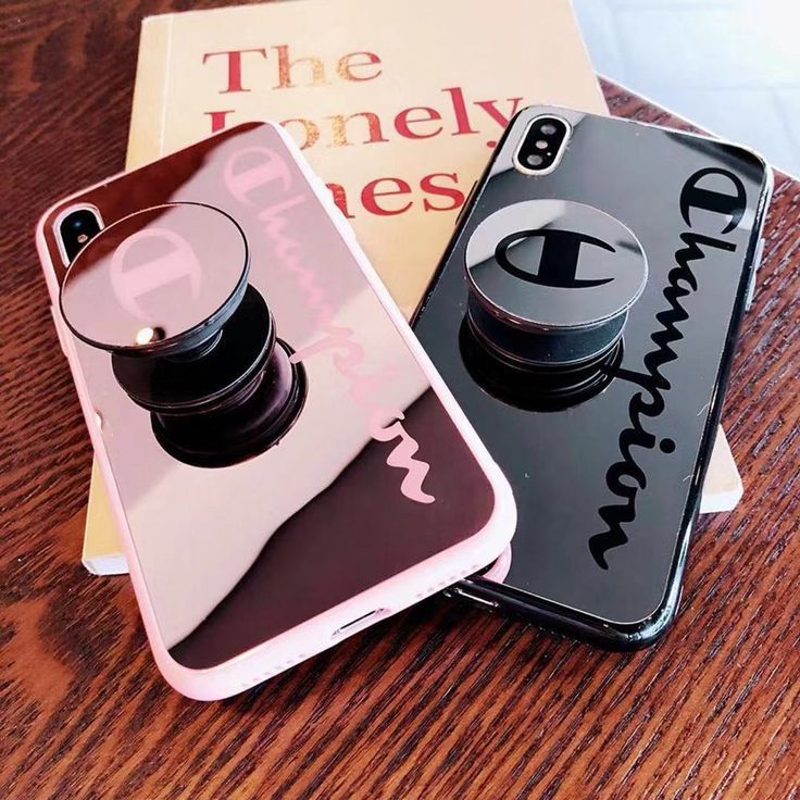 Champion case mirror cover tpu silicone with pop up iphone