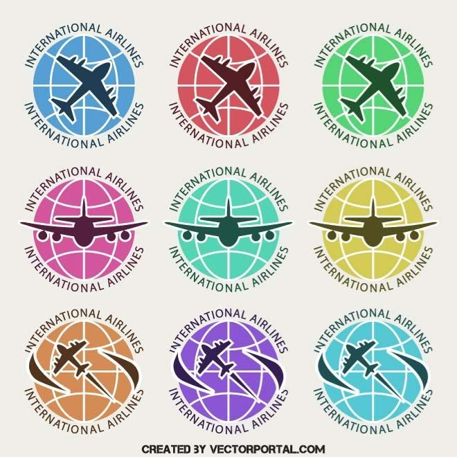 Airline logotypes vector pack.