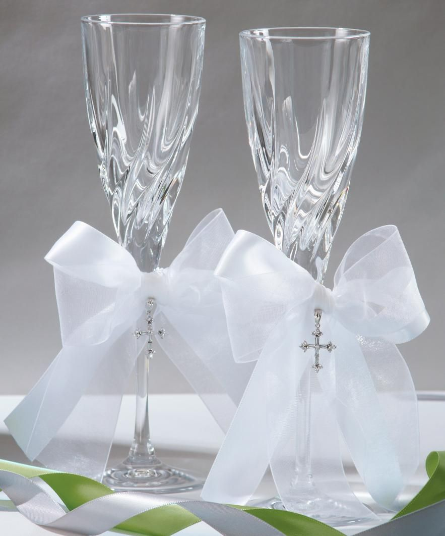 Grace Toasting Flute Set includes two toasting flutes. Each flute is ...