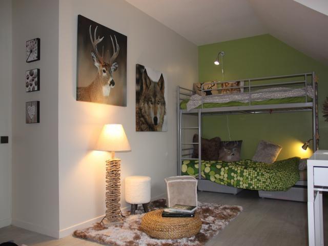 Photos décoration de Chambre d\'ado jumelles Nature Vert Gris de ...