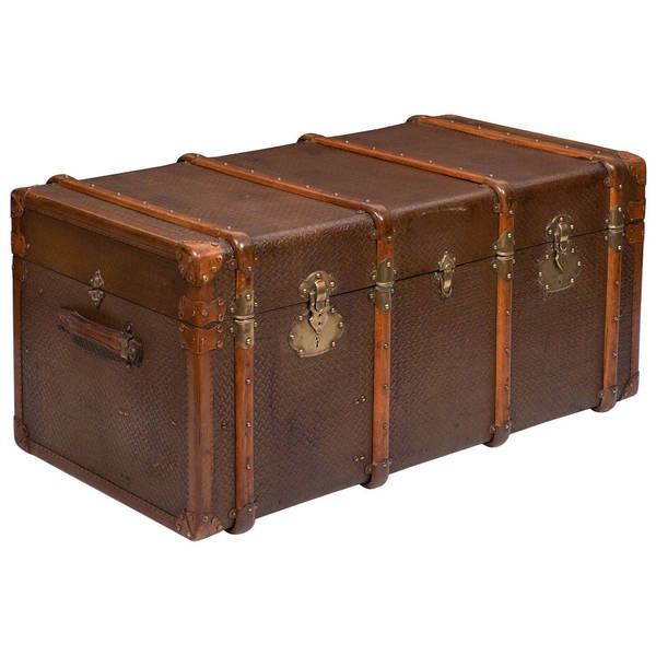 New Orleans Wood Storage Trunk Wooden Chest Set of two
