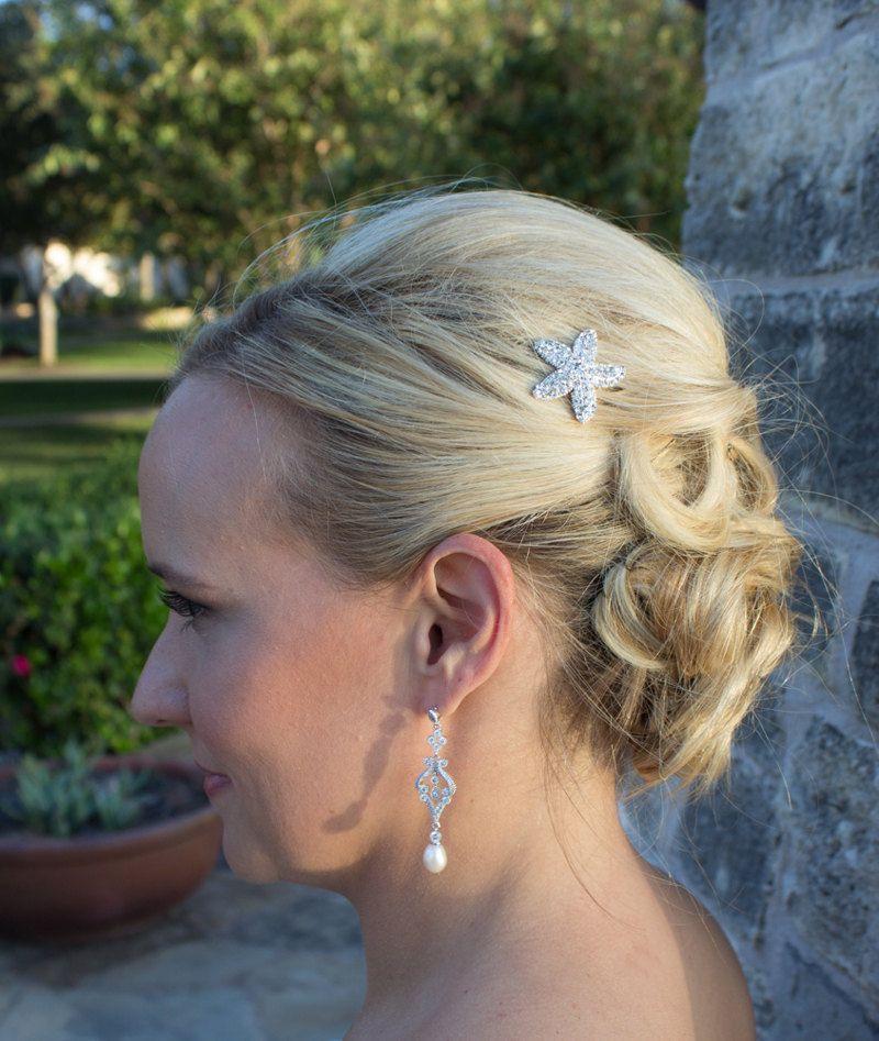Rhinestone Starfish Wedding Hair Pin Accessories Hairclip Bridal Hairpins