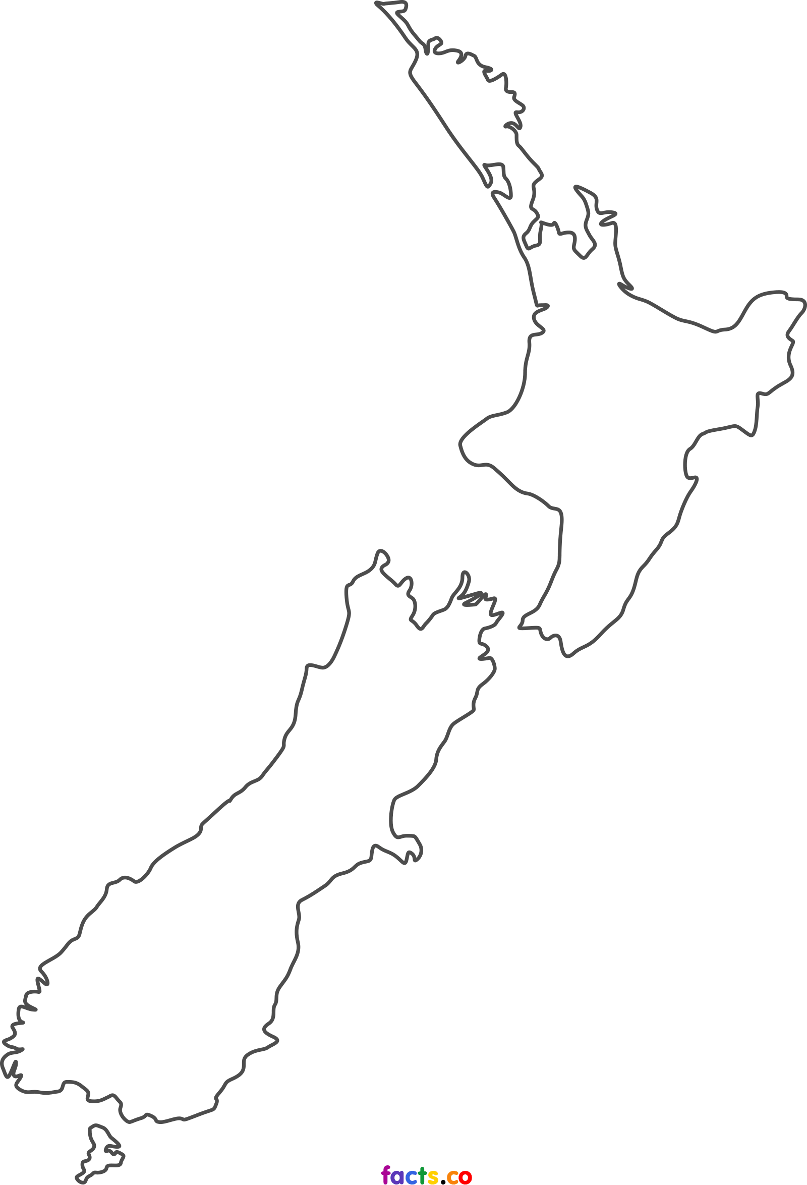 New Zealand Map Outline nz outline map   Google Search | New zealand tattoo, Map of new