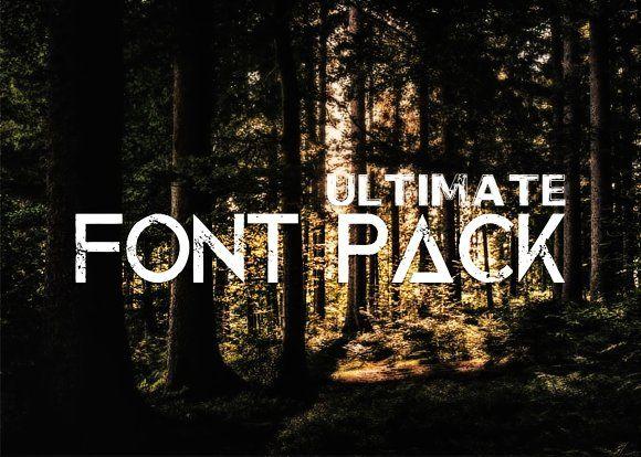 Download Big Bundle Theme Font Pack | Font packs, Western font ...