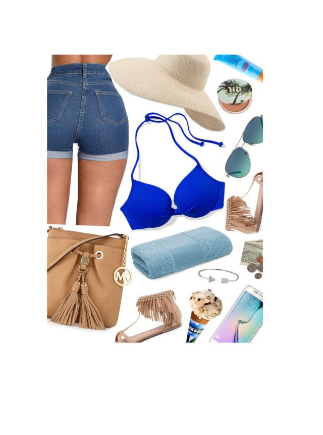 """summer set"" by eniola29 ❤ liked on Polyvore featuring Victoria's Secret PINK, Qupid, Urban Decay, MICHAEL Michael Kors, Samsung, Bling Jewelry, Eric Javits, MDSolarSciences, Abyss and Tiffany & Co."