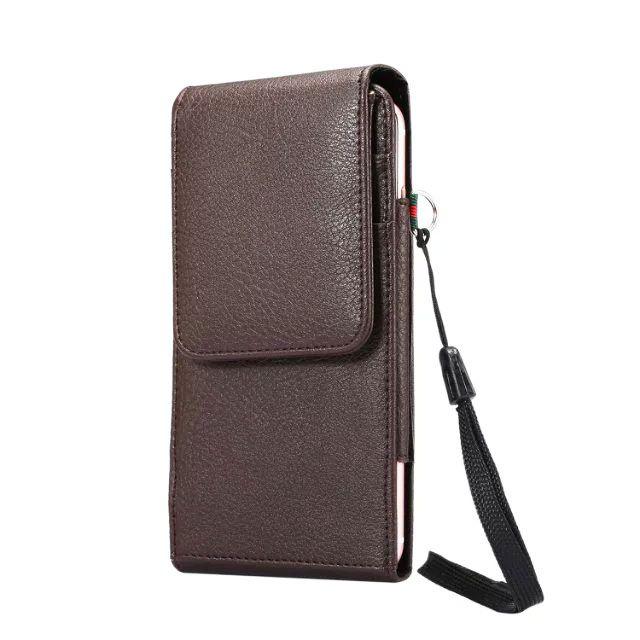 df2e59e33421 Verticial Rotary Man Belt Clip Strap Leather Mobile Phone Case Card Pouch  For ZTE Blade A610 V7 Max,Axon 7 mini,nubia Z11 mini S