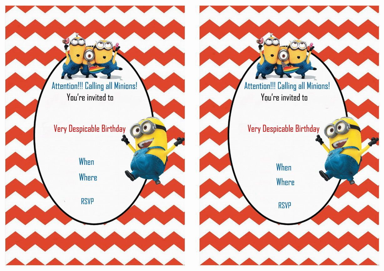 Despicable me free printable birthday party invitations birthday despicable me free printable birthday party invitations filmwisefo Gallery