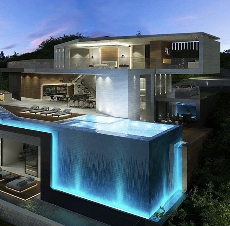 When Pool Fully Used Veriltucal Hirozenrltal Fountain Lighten Method It S To Reach Th Maison D Architecture Architecture De Maison Maison Architecte Moderne