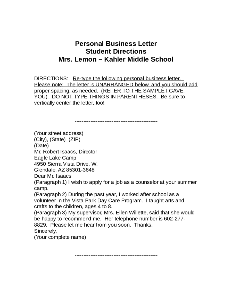Free Cover Letter Template Friendly Letter Template Pinterest