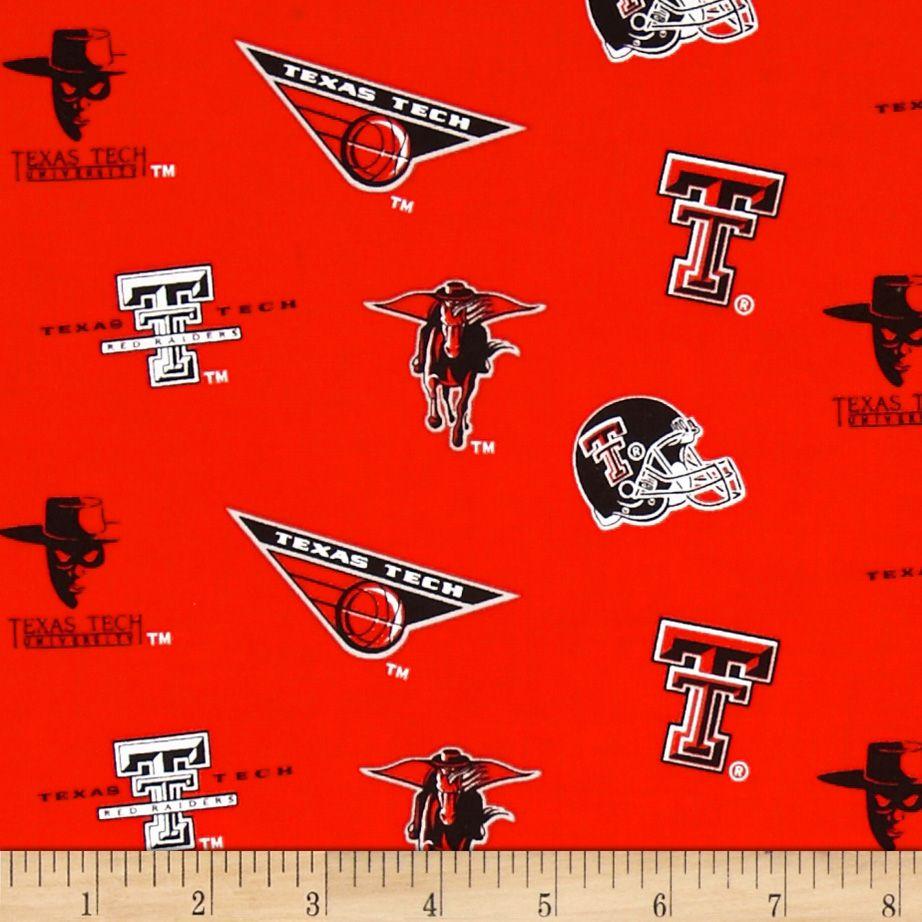 Collegiate Cotton Broadcloth Texas Tech Fabric