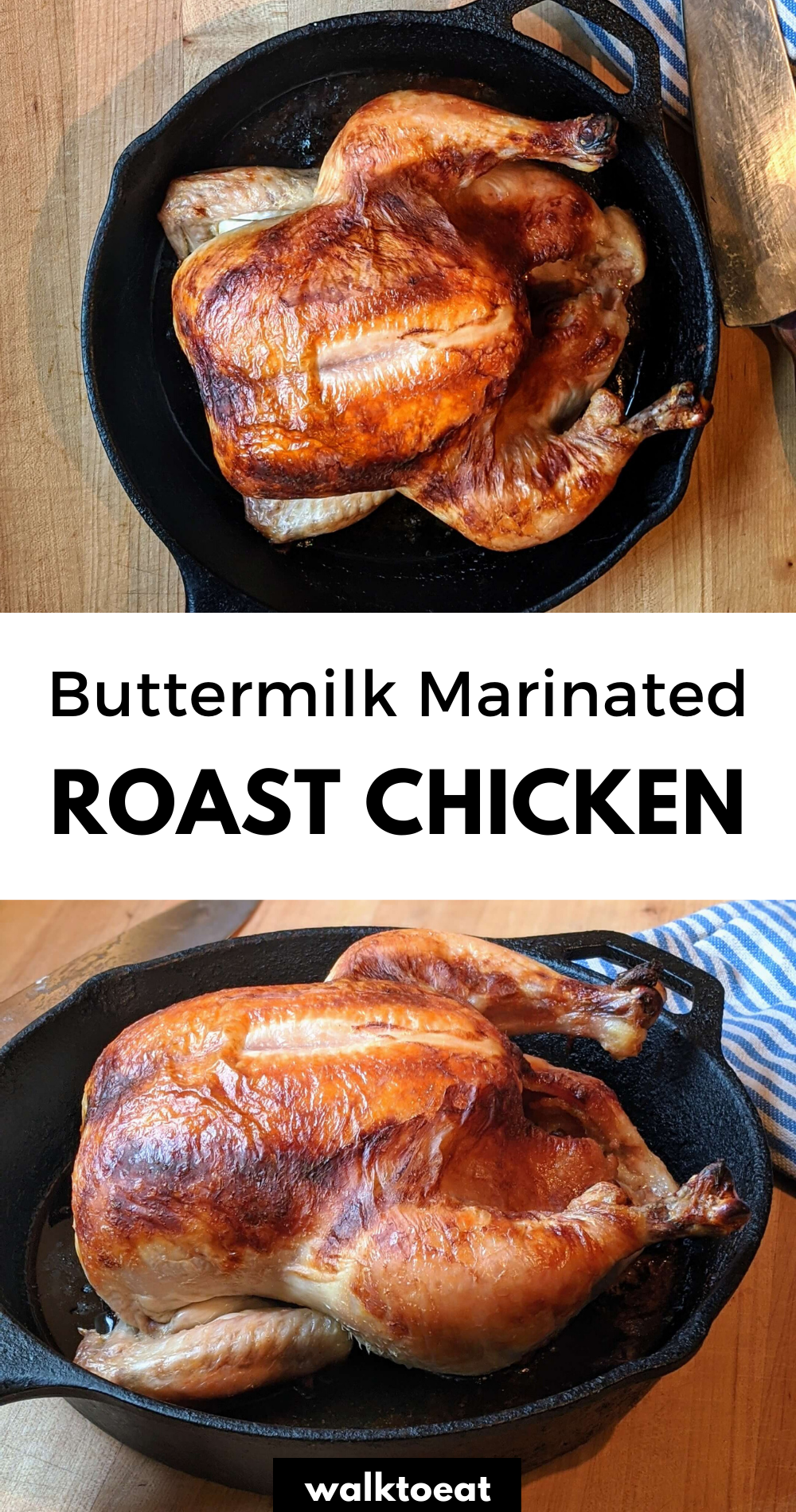 Buttermilk Marinated Roast Chicken In 2020 Batch Cooking Recipes Chicken Recipes Poultry Recipes