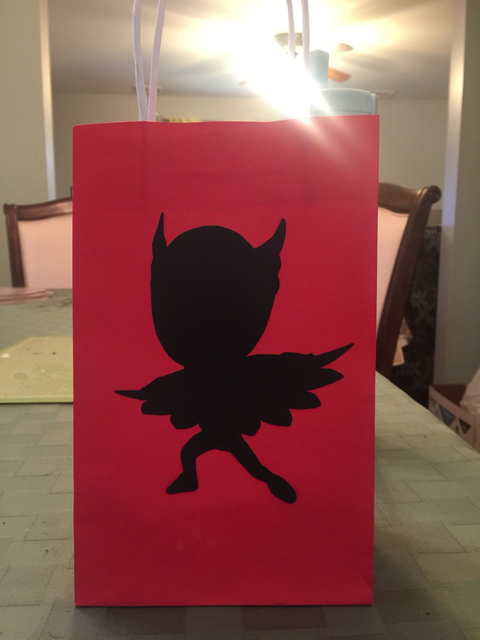Owlet Gift bags! PJ MASKS birthday party
