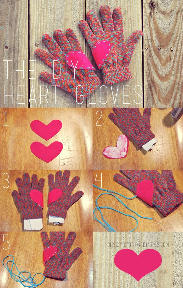 OH SO PRETTY the DIARIES: The DIY Heart Gloves (Could also ...