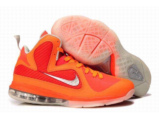 best service c6d47 a01e5 New Nike Zoom LeBron 9(IX) Shoes Orange Red
