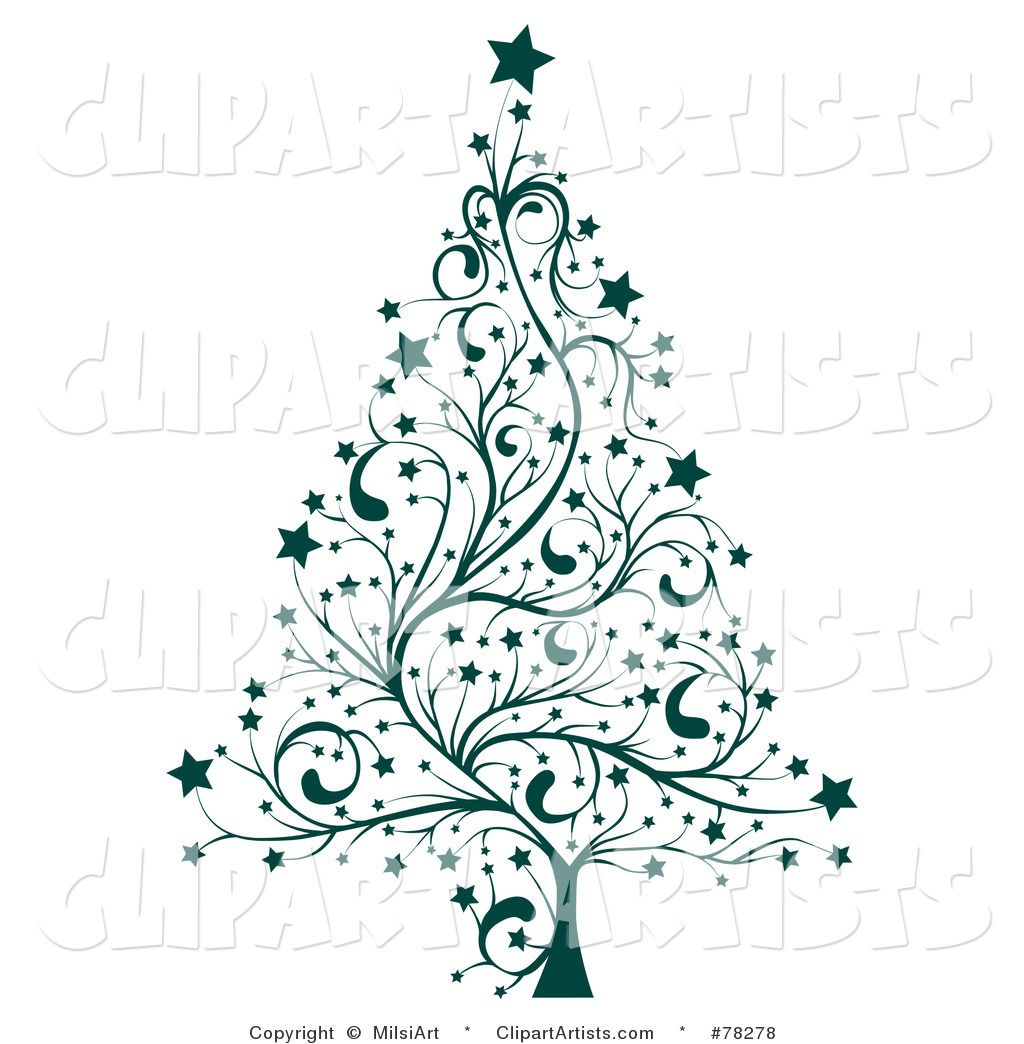 Tree Clip Art Black and White Larger Preview Vector