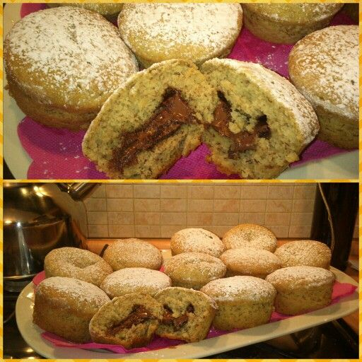 Muffin alla banana e nutella :-P