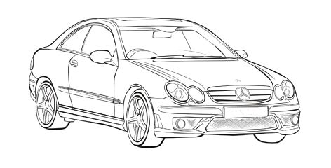 Mercedes Benz Clk Coloring Page Mercedes Car Coloring Pages