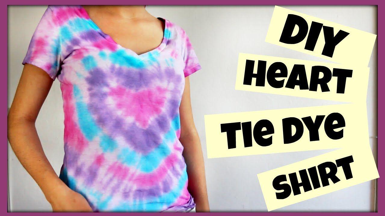 Diy heart tie dye shirt ft nias nest tie dye tie dye