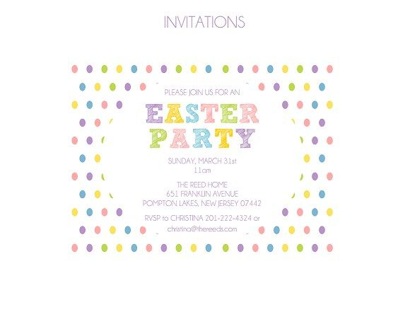 Free Easter Party Printable Invitations Where You Can Type In Your Own Information Invitations Easter Easter Party Easter Invitations Easter Party Printable