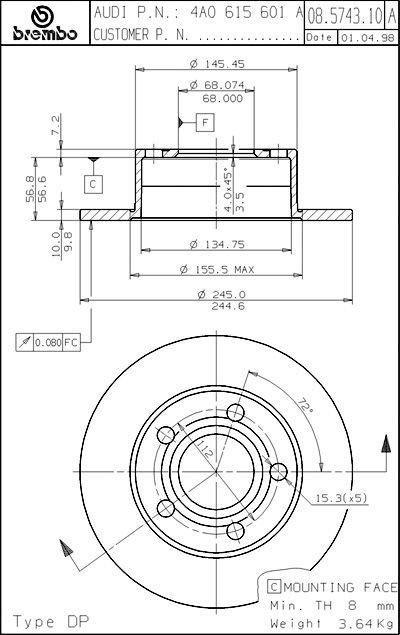 Orthographic Blueprint Diagrams Of The 250 Mechanical Design Technical Drawing Blueprints