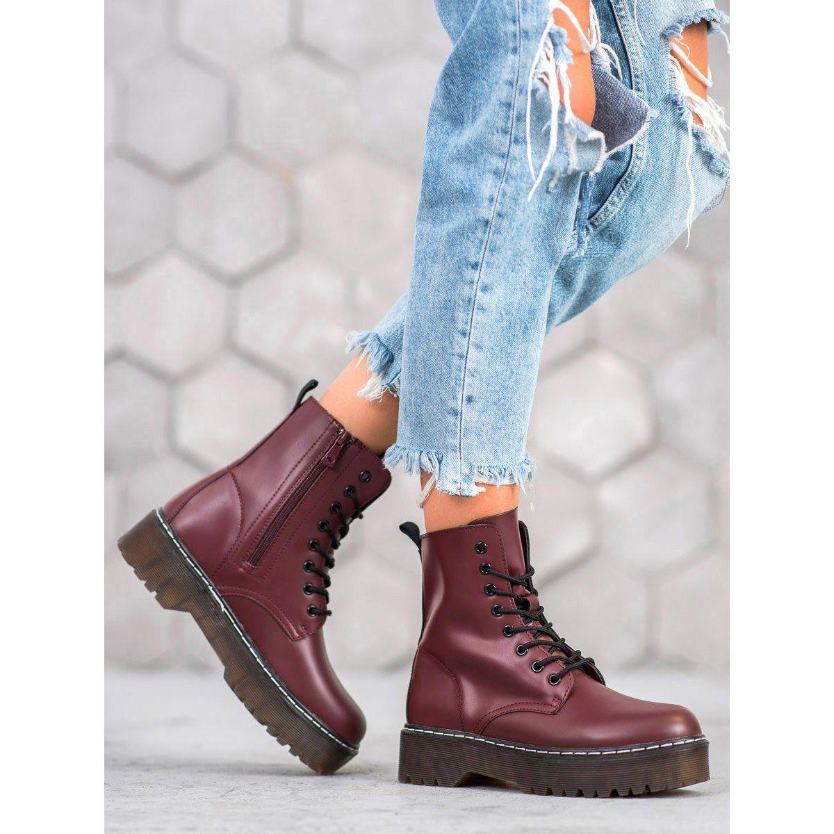 Kylie Glany Na Platformie Czerwone Platform Shoes Platform Boots Boot Shoes Women