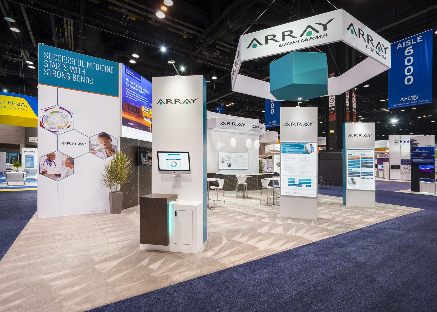 Fabric Exhibition Stand Builders : Exhibits and trade show booths custom built and branded healthcare