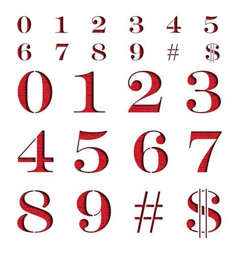 Engraver's Stencil Number Set