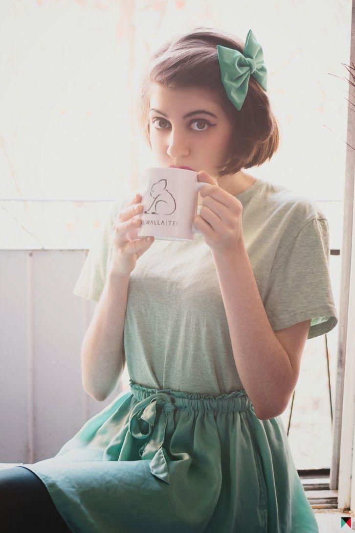 Get Cozy | FASHION IS MY RELIGION | photo Phimophoto | #green #bow #kuwallatee #artizia #turquoise #skirt #mint #tea