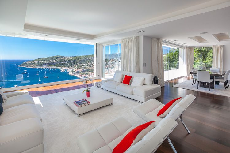 Villefranche frenchriviera luxury villa for rental - Decoration interieur rideaux ...