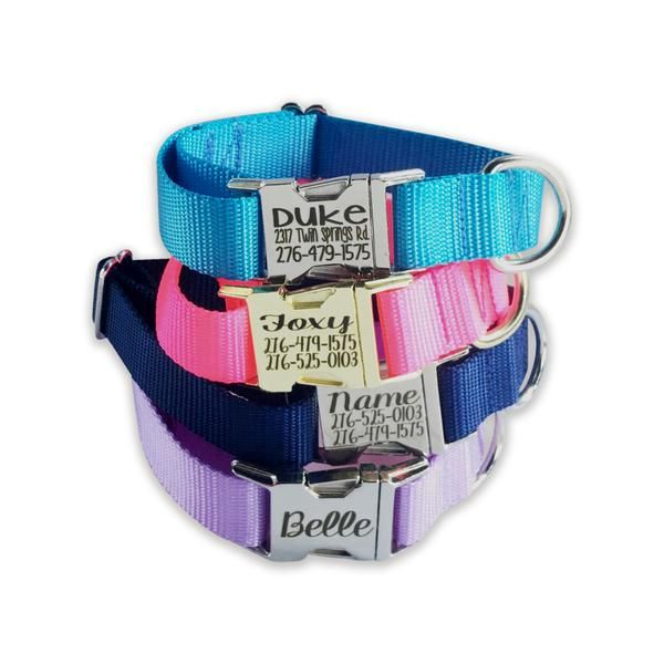 Amazon.com : Personalized Dog Leashes with Custom Hi-Def Text and Art, An Embroidered  Dog Leash Alternative - Available in 6 Sizes (1 Pack) : Pet Supplies