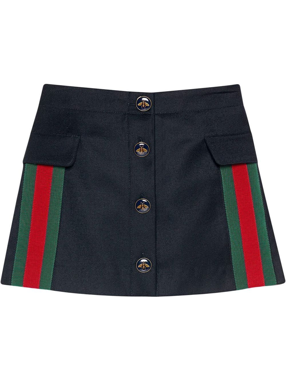 GUCCI KIDS SKIRT IN WOOL AND CASHMERE WITH WEB