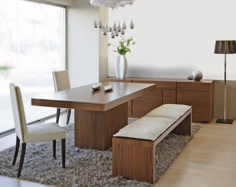 Simple Modern Dining Rooms And Dining Room Furniture  Bench Seat Beauteous Dining Room With Bench Seating 2018