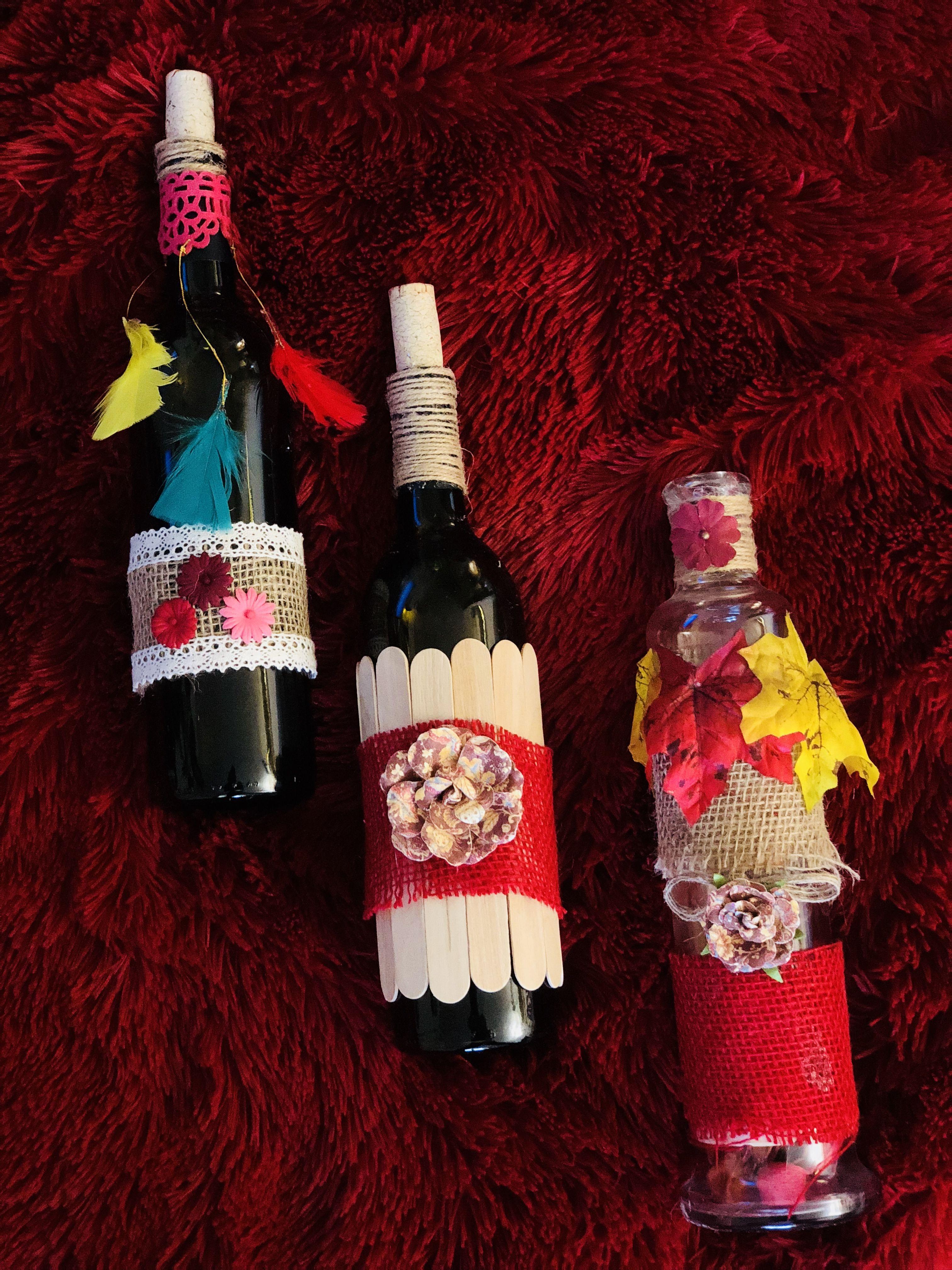 Pin By Kiran Sharma On Rabtbykiran Bottles Decoration Crafts Decor
