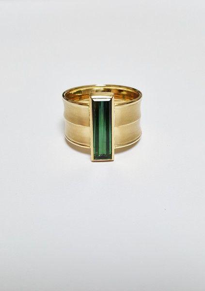 Photo of Goldringe – grüner Turmalin Verdelith Ring in 750 Gold RW 61   – ein Designerst…