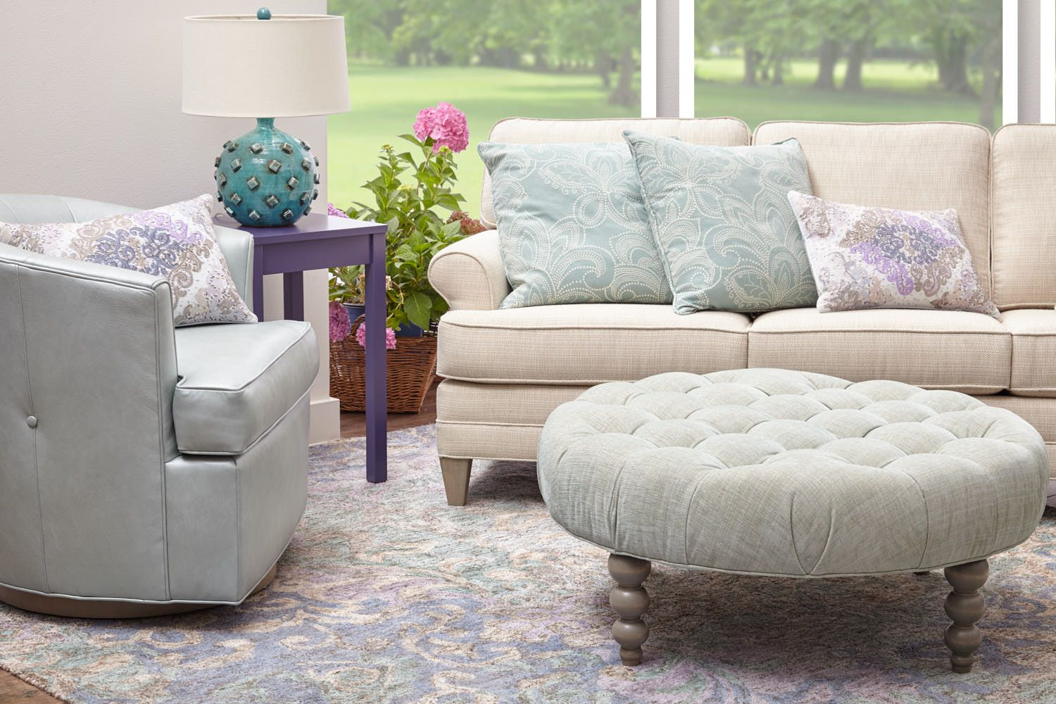 Admirable Orleans Sofa Vincent Swivel Chair And Rockport Round Tufted Dailytribune Chair Design For Home Dailytribuneorg
