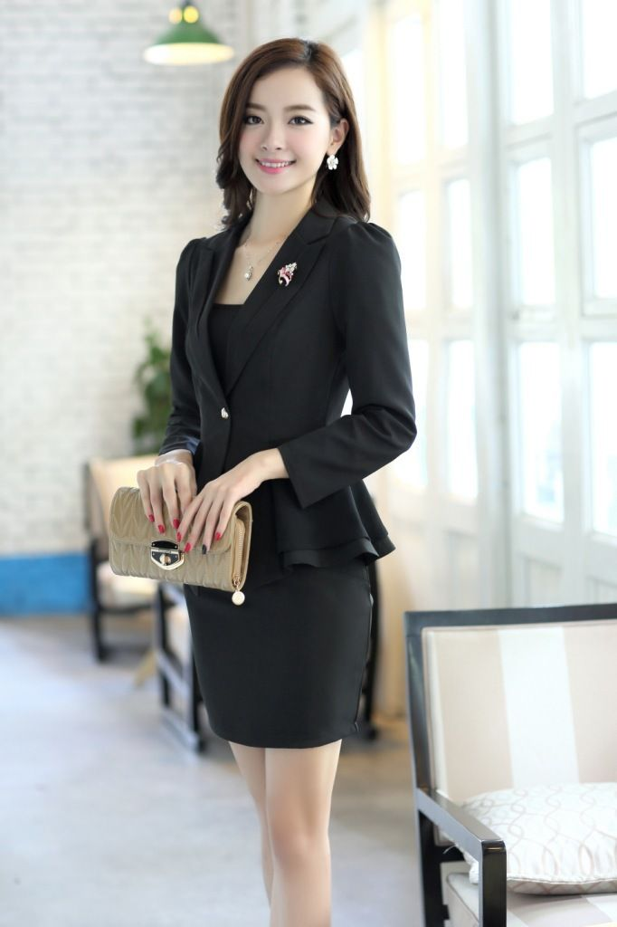 Top Fashion 2013 New Formal Business Elegant Professional Attire Slim Career Suits ...