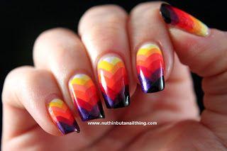 Rainbow Fishtail Manicure