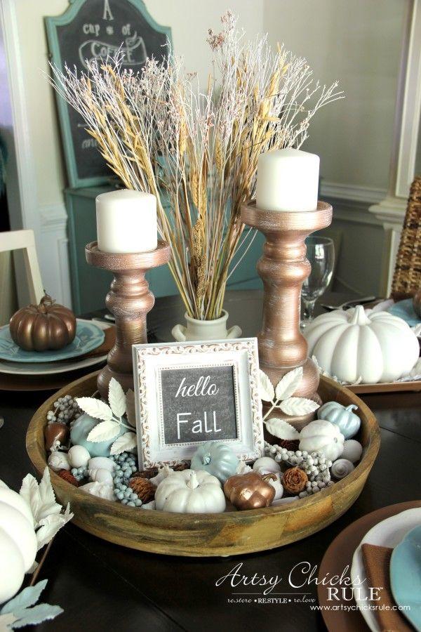 coastal casual fall tablescape on a budget inspiration with joann rh pinterest com