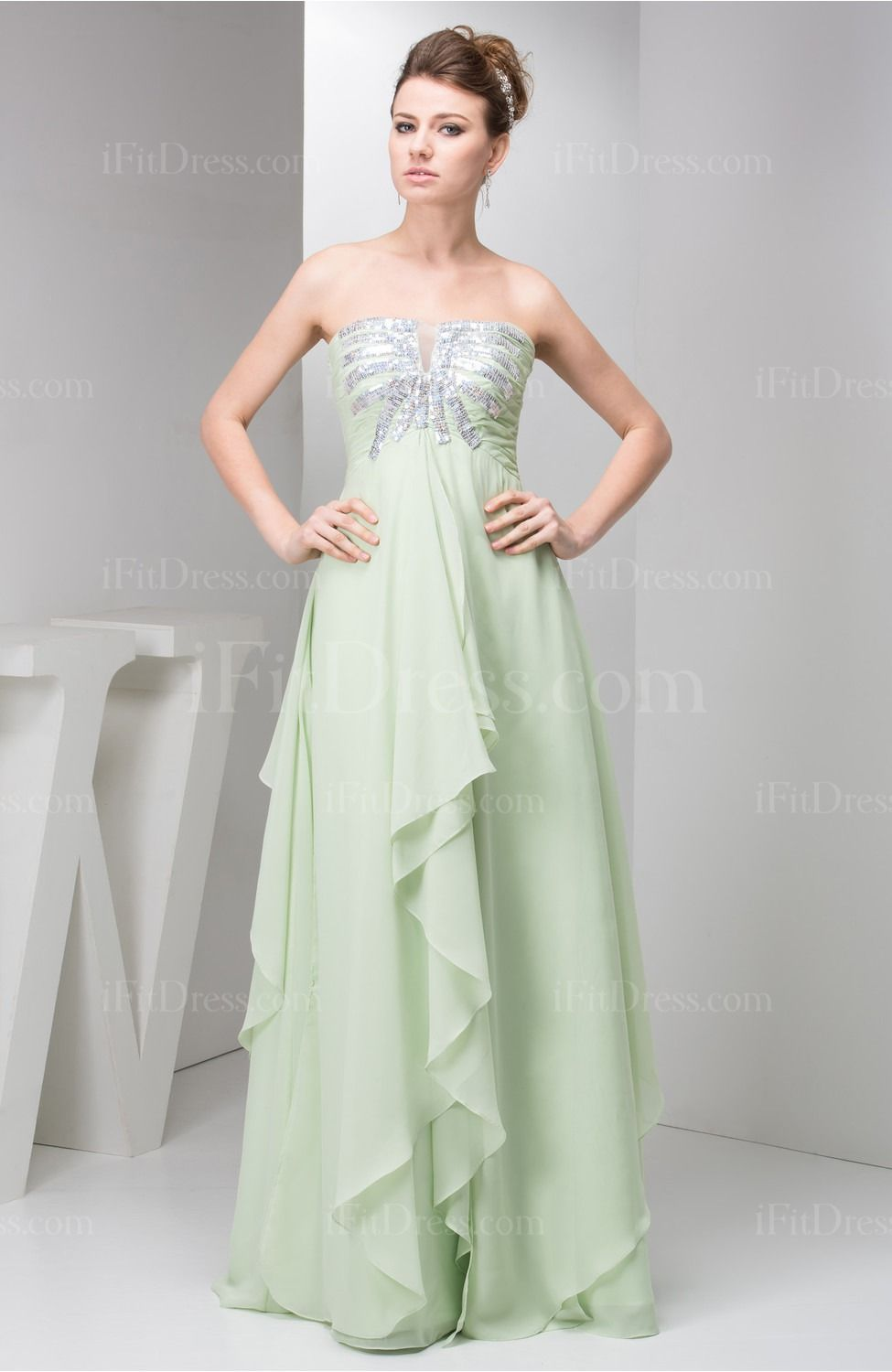 Green dress for wedding  Affordable Wedding Guest Dress Long Full Figure Autumn Low Back Chic