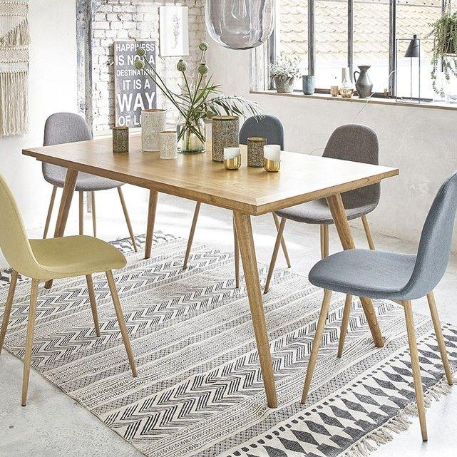 Table à manger en bois de mindy 6 à 8 couverts Pinterest Salons