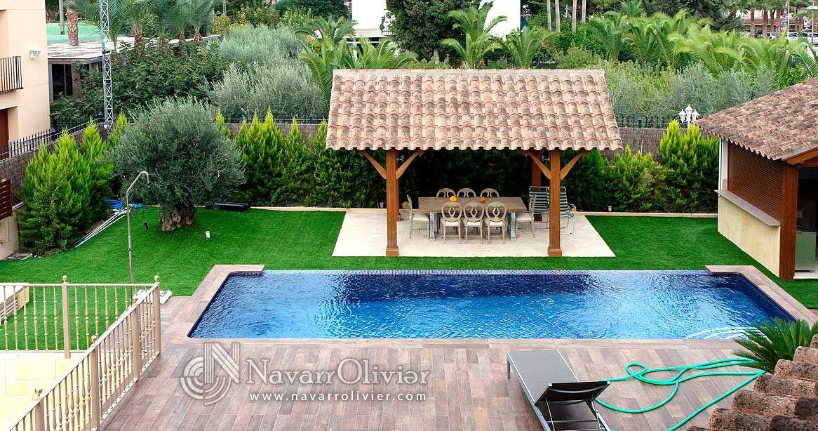 P rgola a 2 aguas estilo tradicional p rgolas - Cenador para jardin ...